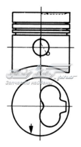 Поршень в комплекте на 1 цилиндр, 4-й ремонт (+1,00) vw 1,6-2,4d 77,51