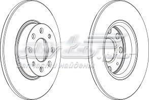 диск тормозной передний  WGR17841