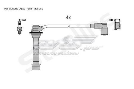 провода высоковольтные, комплект  ZK5472