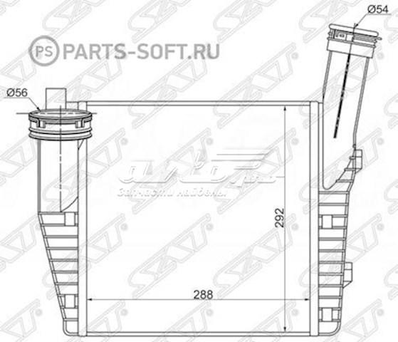радиатор интеркуллера  ST7L6145804A
