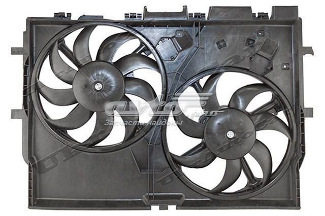 електровентилятор охолодження в зборі (двигун + крильчатка)  VF094