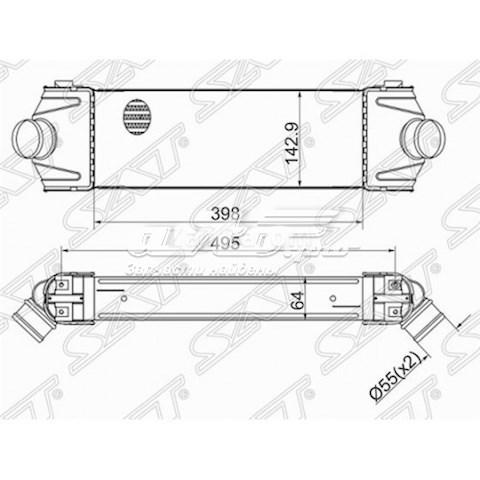 радиатор интеркуллера  ST1423732