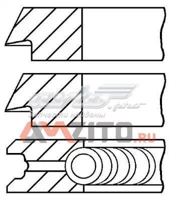 Кольца поршневые компрессора на 1 цилиндр, 2-й ремонт (+0,50)