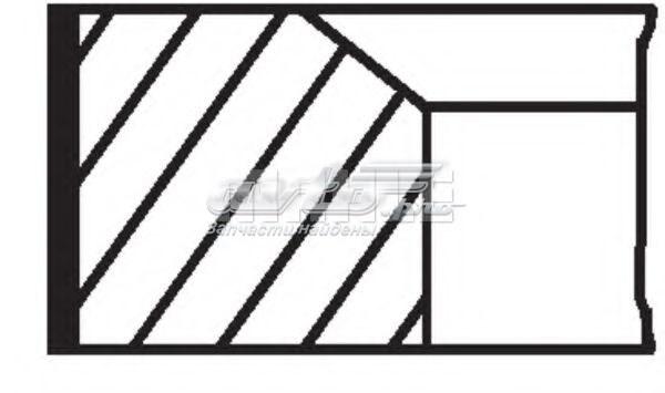 кольца поршневые комплект на мотор, 3-й ремонт (+0,75)  02201N3