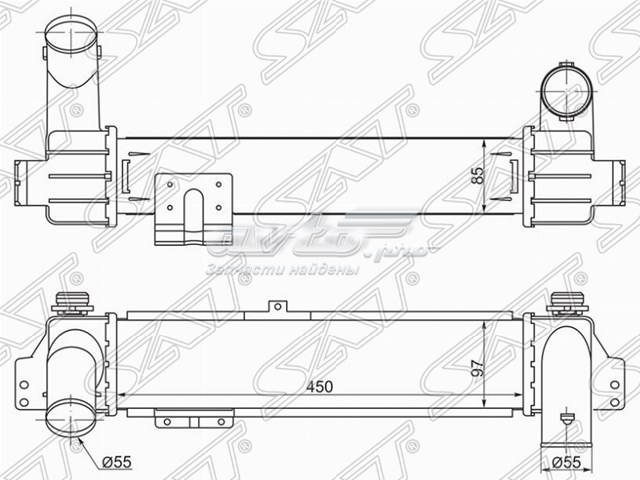 радиатор интеркуллера  ST281904A160