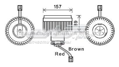мотор вентилятора печки (отопителя салона)  VO8177