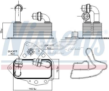 радиатор масляный (холодильник), под фильтром  V40602100