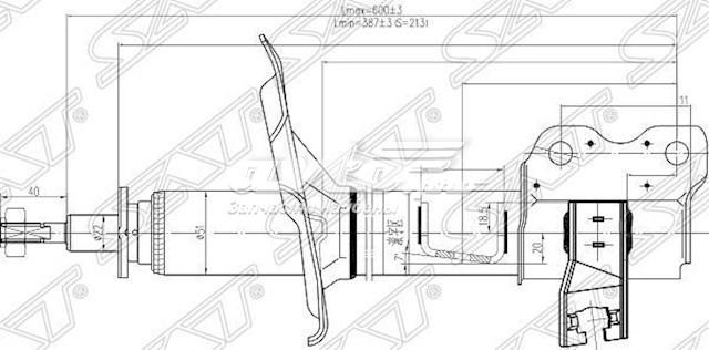 амортизатор задній, лівий  ST553038H625
