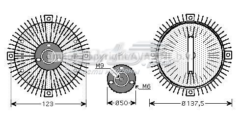 вискомуфта (вязкостная муфта) вентилятора охлаждения  VNC273