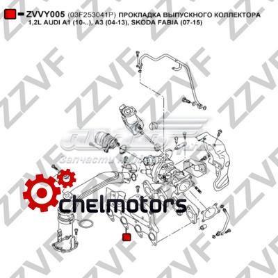 прокладка выпускного коллектора  ZVVY005