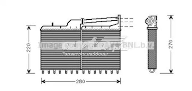 електровентилятор охолодження в зборі (двигун + крильчатка)  VW7526
