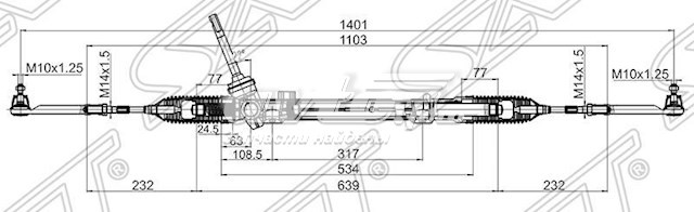 рейка рульова  ST48001JD90B