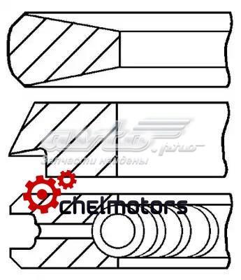 Кольца поршневые компрессора на 1 цилиндр, 1-й ремонт (+0,25)