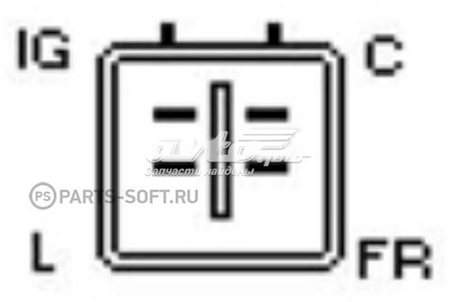 реле-регулятор генератора (реле зарядки)  YR610