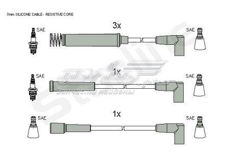 провода высоковольтные, комплект  ZK2782