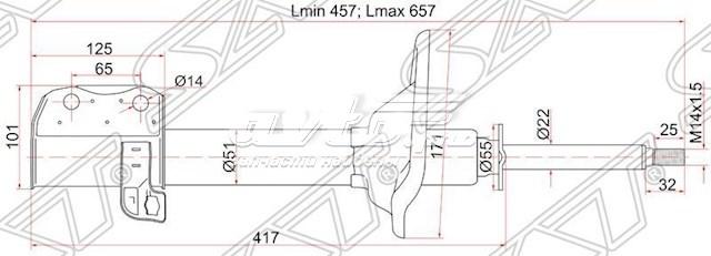 амортизатор задній, лівий  ST20362AA030