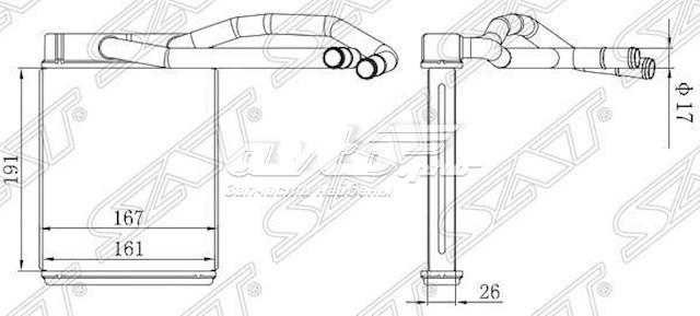 радиатор печки (отопителя)  STHY123950