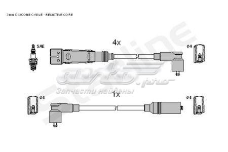 провода высоковольтные, комплект  ZK0452