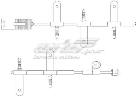 датчик износа тормозных колодок передний  WS0216