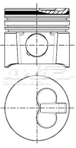 поршень в комплекте на 1 цилиндр, 3-й ремонт (+0,75)  8715201010