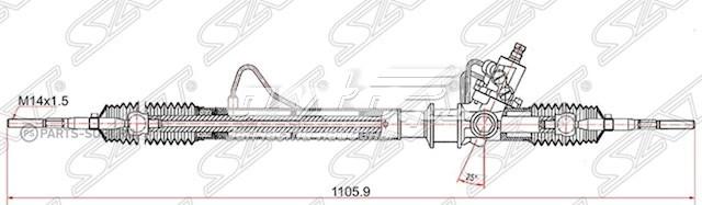 рейка рульова  ST4858065D51