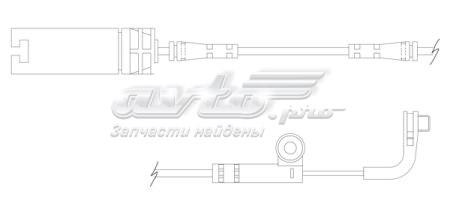 датчик износа тормозных колодок передний  WS0218
