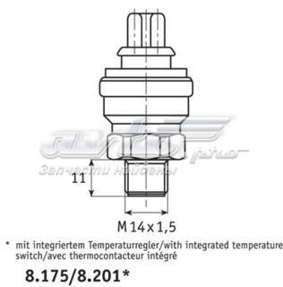 датчик температуры охлаждающей жидкости (включения вентилятора радиатора)  TSW47