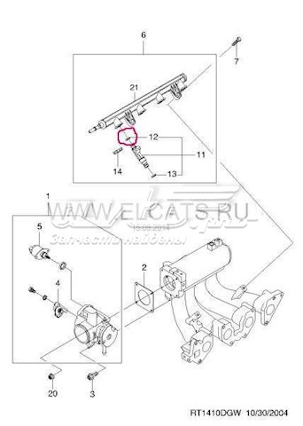 O Ring Nozzle Injector For Daewoo Nexia Sedan N150 2008
