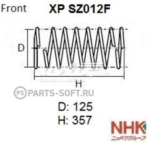 пружина передняя  XPSZ012F