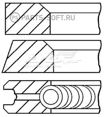 кольца поршневые на 1 цилиндр, 3-й ремонт (+0,75)  0874312000