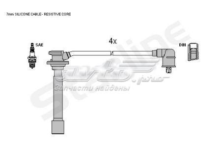 провода высоковольтные, комплект  ZK2272