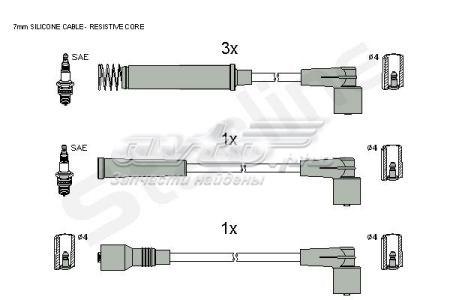 провода высоковольтные, комплект  ZK2602