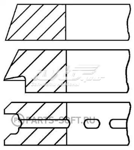 кольца поршневые компрессора на 1 цилиндр, 1-й ремонт (+0,25)  0899070500