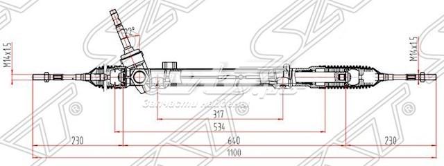рейка рульова  ST480014BA0A
