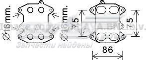 радиатор масляный (холодильник), под фильтром  VN3388