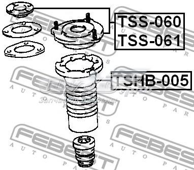 опора амортизатора переднего левого  TSS061
