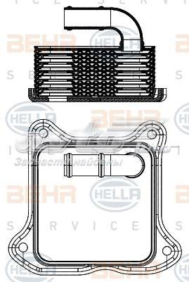 радиатор масляный  V15606062