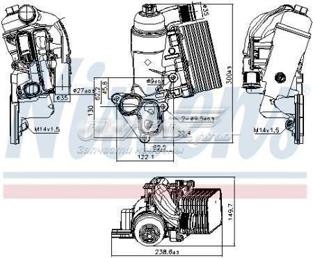 радиатор масляный (холодильник), под фильтром  V46600012