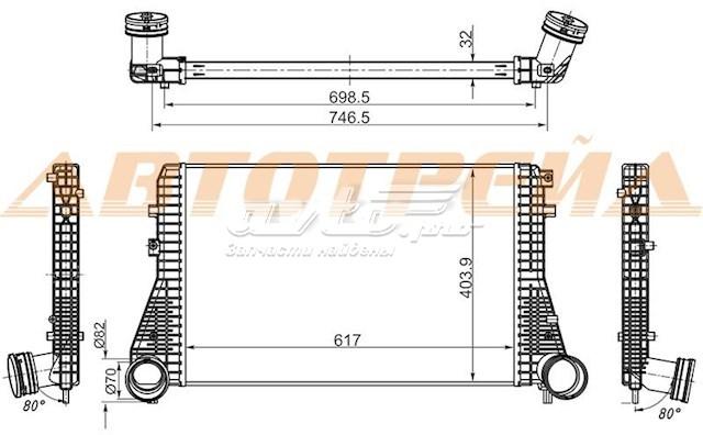 радиатор интеркуллера  ST1K0145803